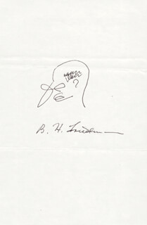 Autographs: B. H. FRIEDMAN - SELF-CARICATURE SIGNED