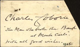 CHARLES COBORN - AUTOGRAPH SENTIMENT SIGNED