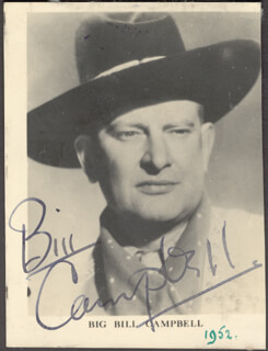 WILLIAM BIG BILL CAMPBELL - AUTOGRAPHED SIGNED PHOTOGRAPH