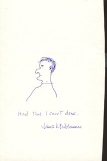 JAMES K. FEIBLEMAN - CARICATURE SIGNED