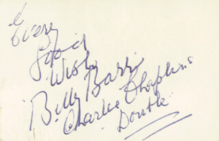 Autographs: BILLY BARR - AUTOGRAPH SENTIMENT SIGNED