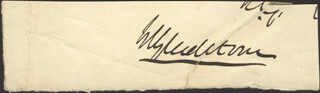 PRIME MINISTER WILLIAM E. GLADSTONE (GREAT BRITAIN) - AUTOGRAPH