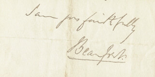Autographs: HENRY CHARLES (6TH DUKE OF BEAUFORT) SOMERSET - AUTOGRAPH SENTIMENT SIGNED
