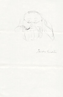 THEODORE ENSLIN - SELF-CARICATURE SIGNED
