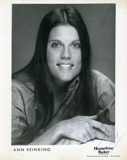 ANN REINKING - AUTOGRAPHED INSCRIBED PHOTOGRAPH