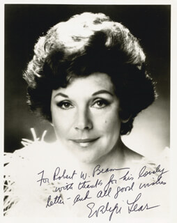 EVELYN LEAR - AUTOGRAPHED INSCRIBED PHOTOGRAPH