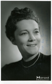 ODETTE TURBA-RABIER - AUTOGRAPHED INSCRIBED PHOTOGRAPH