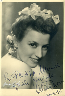 ALDA NONI - AUTOGRAPHED INSCRIBED PHOTOGRAPH 1948