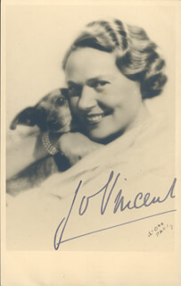 JO VINCENT - PICTURE POST CARD SIGNED