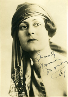 MARCIA MANON - AUTOGRAPHED SIGNED PHOTOGRAPH 1919