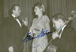 ELEANOR STEBER - AUTOGRAPHED SIGNED PHOTOGRAPH CO-SIGNED BY: CHARLES KULLMANN