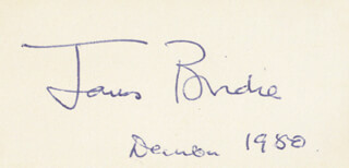 Autographs: JAMES BRODIE - SIGNATURE(S) 12/1980