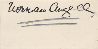 Autographs: SIR NORMAN ANGELL - SIGNATURE(S)