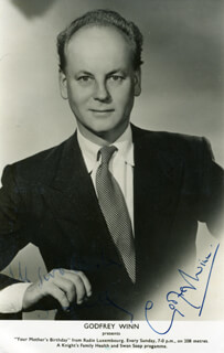 GODFREY WINN - AUTOGRAPHED SIGNED PHOTOGRAPH