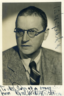 PAUL WITTGENSTEIN - AUTOGRAPHED INSCRIBED PHOTOGRAPH 10/1951