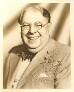 S. Z. CUDDLES SAKALL - AUTOGRAPHED INSCRIBED PHOTOGRAPH