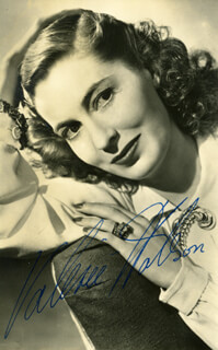 VALERIE HOBSON - AUTOGRAPHED SIGNED PHOTOGRAPH