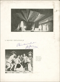 ROBERT MASSARD - MAGAZINE PHOTOGRAPH SIGNED