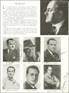RAOUL JOBIN - MAGAZINE PHOTOGRAPH SIGNED CO-SIGNED BY: LEONARD WARREN, NORMAN CORDON, BRUNO LANDI