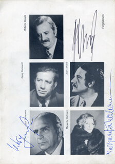 MARGARITA WALLMAN - MAGAZINE PHOTOGRAPH SIGNED CO-SIGNED BY: JOSIF (IOSIF TUMANISHVILI) TOUMANOV, JOSE TAMAYO, OSCAR ARAIZ