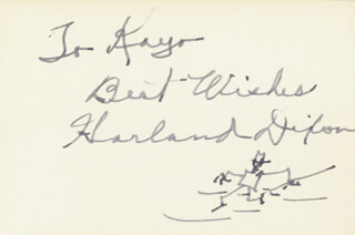 HARLAND DIXON - AUTOGRAPH NOTE SIGNED