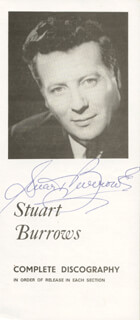 STUART BURROWS - PAMPHLET SIGNED