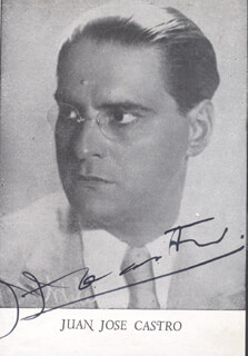 JUAN JOSE CASTRO - MAGAZINE PHOTOGRAPH SIGNED
