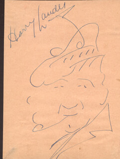 SIR HARRY M. LAUDER - SELF-CARICATURE SIGNED