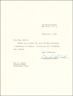GENERAL DOUGLAS MACARTHUR - TYPED LETTER SIGNED 02/01/1955