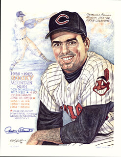 Autographs: ROCKY COLAVITO - PRINTED ILLUSTRATION SIGNED IN INK CIRCA 1990 CO-SIGNED BY: KEN HAAG