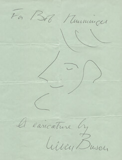 NIVEN BUSCH - INSCRIBED SELF-CARICATURE SIGNED