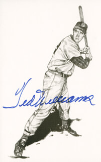 TED WILLIAMS - PICTURE POST CARD SIGNED