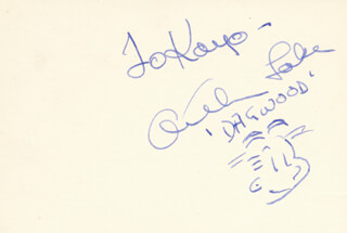 ARTHUR LAKE - INSCRIBED CARICATURE SIGNED