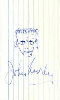 JOHN MARLEY - SELF-CARICATURE SIGNED