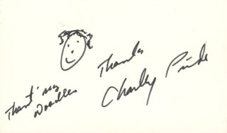 CHARLEY PRIDE - SELF-CARICATURE SIGNED