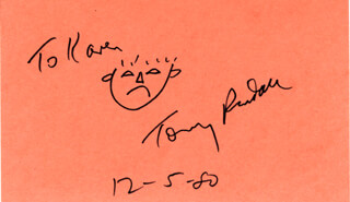 TONY RANDALL - INSCRIBED SELF-CARICATURE SIGNED 12/05/1980