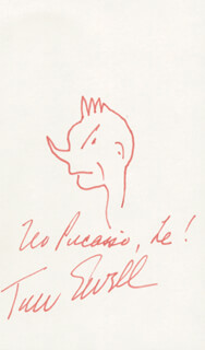 TOM EWELL - SELF-CARICATURE SIGNED