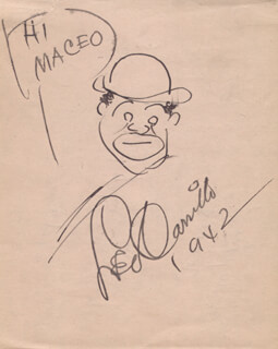 LEO PANCHO CARRILLO - INSCRIBED ORIGINAL ART SIGNED 1942