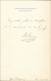Autographs: JOSE ECHEGARAY - AUTOGRAPH NOTE SIGNED 11/23/1910