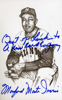 MONTE IRVIN - AUTOGRAPHED INSCRIBED PHOTOGRAPH