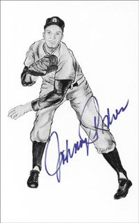 JOHNNY PODRES - PICTURE POST CARD SIGNED