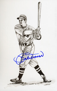 BOBBY DOERR - PICTURE POST CARD SIGNED