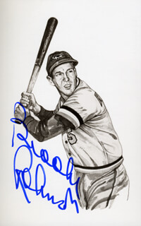 BROOKS ROBINSON - PICTURE POST CARD SIGNED