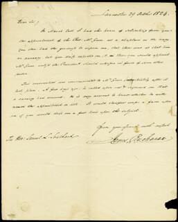 PRESIDENT JAMES BUCHANAN - AUTOGRAPH LETTER SIGNED 10/29/1824