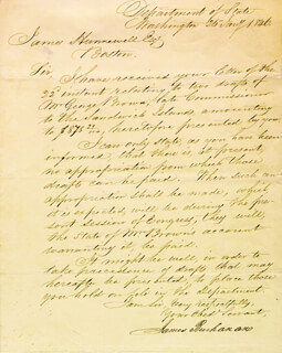 PRESIDENT JAMES BUCHANAN - MANUSCRIPT LETTER SIGNED 01/25/1846