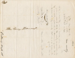PRESIDENT ANDREW JOHNSON - MANUSCRIPT LETTER SIGNED 04/29/1846 CO-SIGNED BY: WILLIAM MICHAEL COCKE, MILTON BROWN