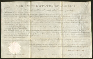PRESIDENT JAMES MONROE - LAND GRANT SIGNED 11/13/1822 CO-SIGNED BY: ASSOCIATE JUSTICE JOHN MCLEAN