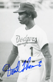 DERREL O. THOMAS - AUTOGRAPHED SIGNED PHOTOGRAPH