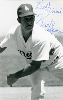 KARL SPOONER - AUTOGRAPHED SIGNED PHOTOGRAPH