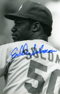 EDDIE BUDDY SOLOMON - AUTOGRAPHED SIGNED PHOTOGRAPH